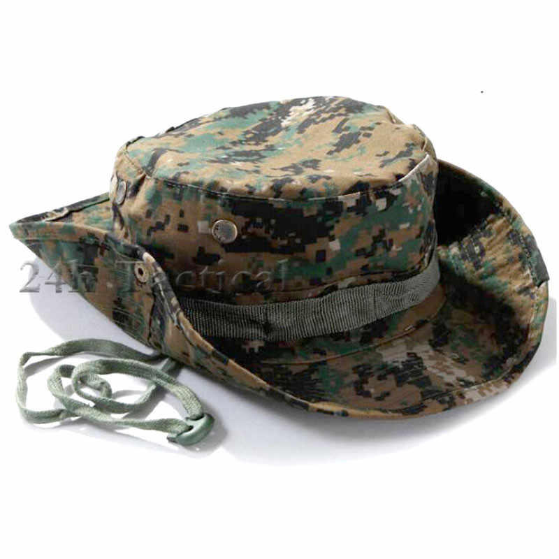 1fb1b2b753d Tactical Airsoft Sniper Multicam Boonie Hat Camouflage Military Army Cap  Hunting Accessories