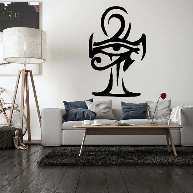 egypt eye of ra pattern wall decal cross vinyl wall stickers