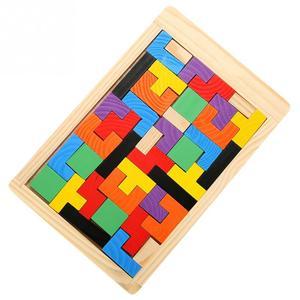 Image 4 - 3D ahşap yapbozlar Tangram Jigsaw kurulu oyuncaklar zeka çocuk bulmacaları oyuncak oyunu eğitici bebek oyuncakları ahşap hediyeler