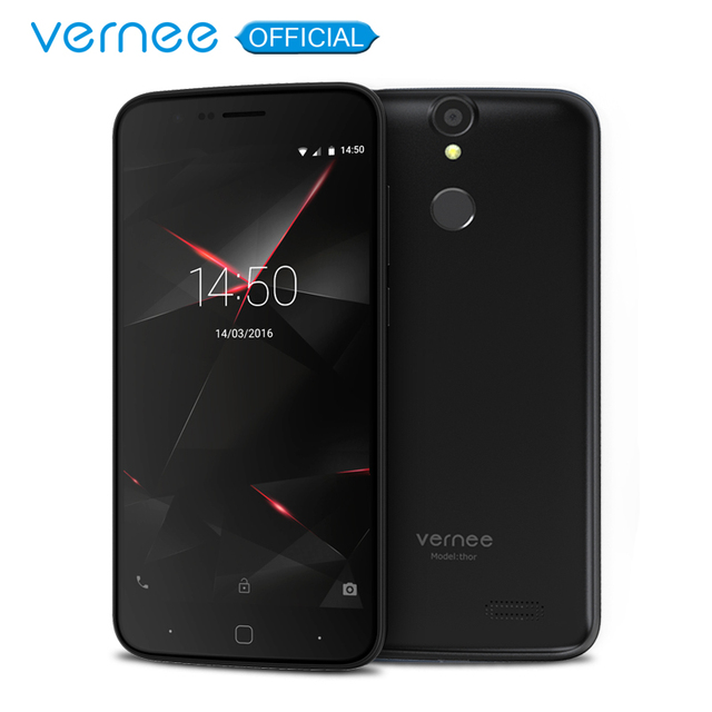 "Vernee Thor 5"" HD 4G LTE Mobile Phone MTK6753 Octa-Core Android 7.0 Cell Phones 3G RAM 16G ROM Dual SIM Fingerprint Smartphone"