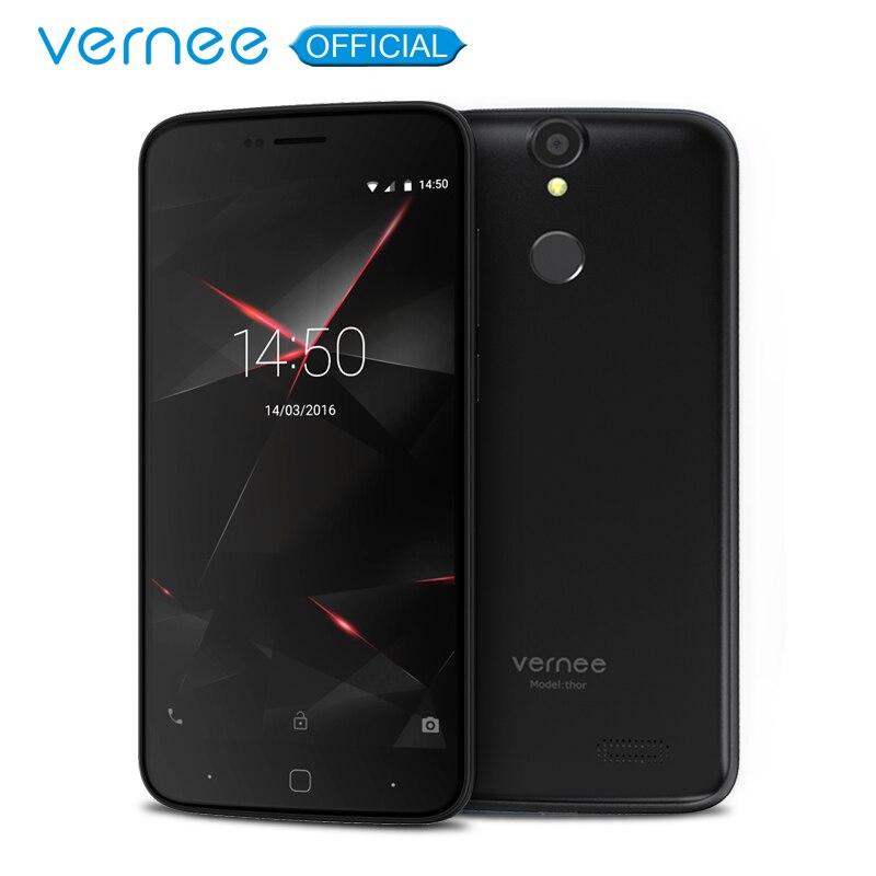 Vernee Thor 5 HD 4G LTE Mobile Téléphone MTK6753 Octa-core Android 7.0 Téléphones Cellulaires 3G RAM 16G ROM double SIM D'empreintes Digitales Smartphone