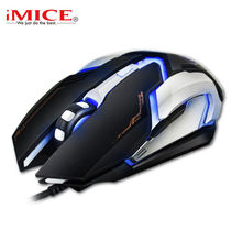 Professional Wired Gaming Mouse 4800DPI USB Optical Mouse Mice 6 Buttons E-Sport Computer Mouse Gamer Mice For Dota 2 LOL CF V6