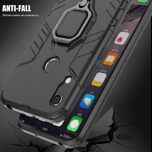 Image 3 - honor 8A Case For Huawei honor 8A case Armor Ring Magnetic Car Hold Shockproof Soft Bumper Phone Cover For Huawei honor 8A Case