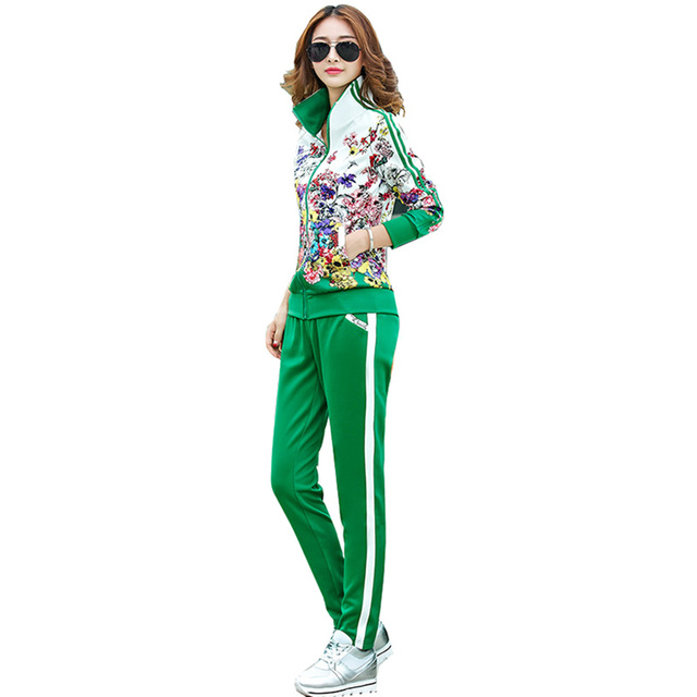 2021 Spring Zipper Cardigan Top and Trousers up and down Two-piece fashion Sweet Maiden long-sleeved Cardigan top Pants suit 3