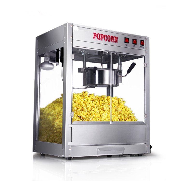1200W Commercial Nano coating nonstick popcorn machine electric stainless steel 8oz Oil Spherical popcorn maker machine vbg1708 professional automatic popcorn machine maker with big volume 8oz series