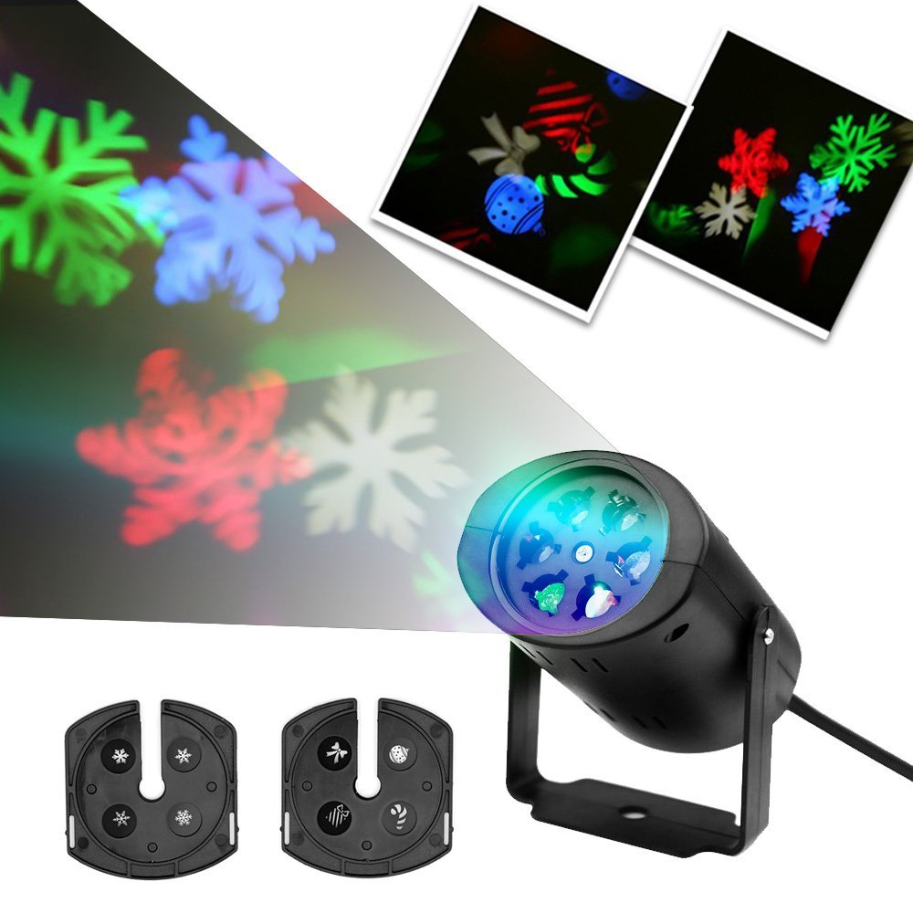 Christmas snowflake lamps led laser projector stage light for Projecteur laser exterieur noel gifi