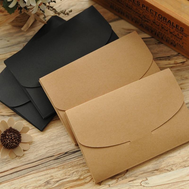 20pcs / lot 16 * 10.5cm250g Retro Kraft Paper Envelope Postcard Envelope Blank Pack Gift Box