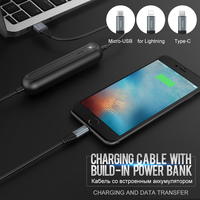 HOCO המקורי טעינת כבל נתונים עבור ברק אפל הנייד USB בנק כוח מטען סוג חוט C מיקרו USB לסמסונג Xiaomi
