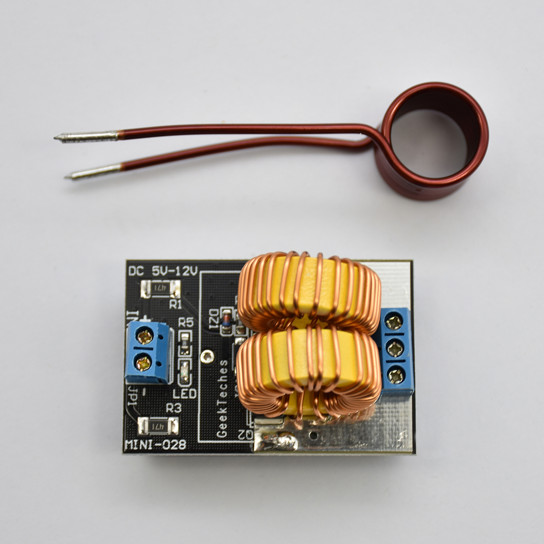1pcs 5V~12V Zero Voltage Switching ZVS Induction Heating Power Supply Module With Coil Power Supply Heating Power Supply Module