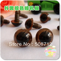 fress ship!!!200pcs 10mm Brown Plastic Safety Eyes Amigurumi Stuffed Wool Felted Animals with washer