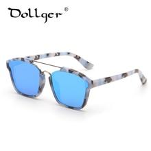 cea246df5ea345 Dollger VINTAGE carré lunettes de soleil femmes marque miroirs métal lunettes  de soleil hommes lunettes revêtement