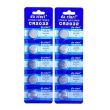 10 шт./2 карты 2032 CR2032 3 в 220 мАч литиевая Кнопочная батарея для монет оптом для часов, игрушек, для фонарей и т. д