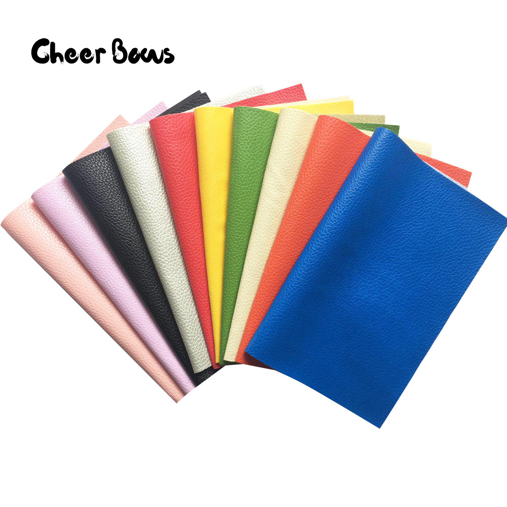 DIY Fabric Litchi Faux Artificial Synthetic Leather Sewing Bow Handmade Craft Material Bags Shoes Making Accessories