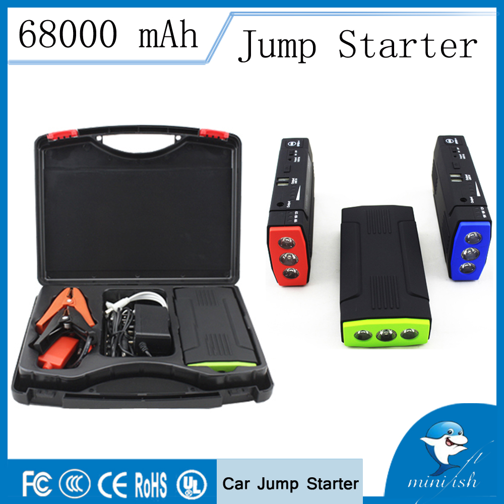 Portable Mini Multifunction AUTO Emergency Start Battery Charger Engine Booster Power Bank Car Jump Starter For 12V Battery Pack car jump starter auto engine emergency multi function jump starter power bank portable car battery charger laptop booster pack