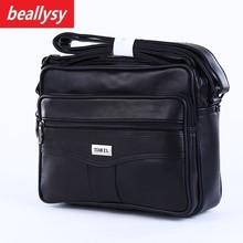 2018 New Men Business Shoulder Leather Briefcase Messenger Bags Phone Holder Messenger Bag Men's Travel Crossbody Bags Handbags
