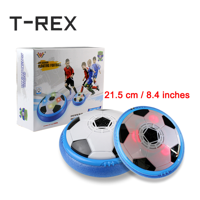 21.5 cm/8.4 inches Air Power Indoor Soccer Disc Toy Balls with LED Lights Hovering Football Gliding Outdoor Kids Toy Gift