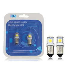 2X CAR Led Festoon Dome Door Lights Ba9s 5Smd 5050 T11 T4W White Red Green Blue 182 Car Marker Backup Bulb Tail Light Wedge Lamp new arrival 10pcs 12v t11 ba9s white bulb t4w 3886x h6w 363 5050 5led car interior dome map light lamp