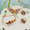 2016 New Arrival Les Nereides Winter Garden Beautiful Flower Fashion Necklace Ring Bracelet Sets