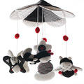 SHILOH 60 Songs Musical Mobile Baby Crib Rotating  Music Box Plush Doll Black and White Color Bee Brinquedos Bebes