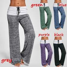 16ae511dec Patchwork Sport Pants High Waist Wide Leg Pants Lace Up Fitness Loose  Dancing Yoga Pants Sportswear Workout Trousers Large Size