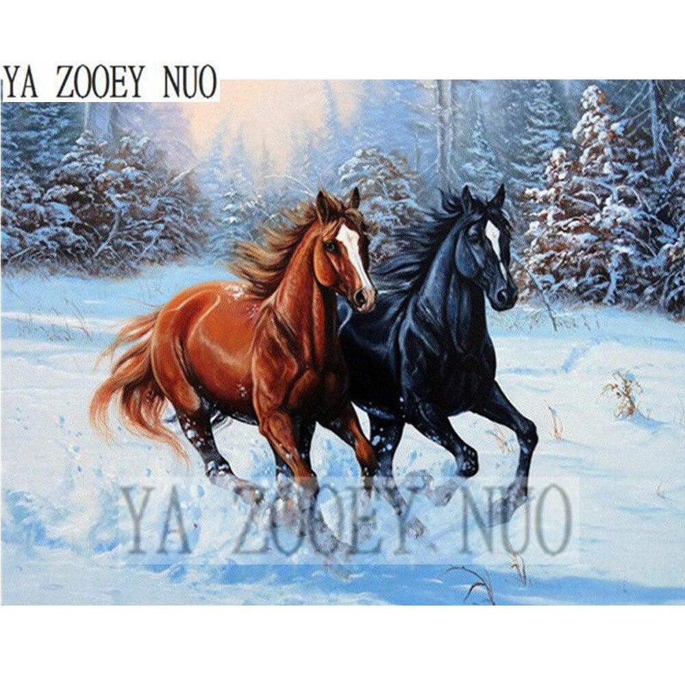 Моя вышивка крестом две лошади