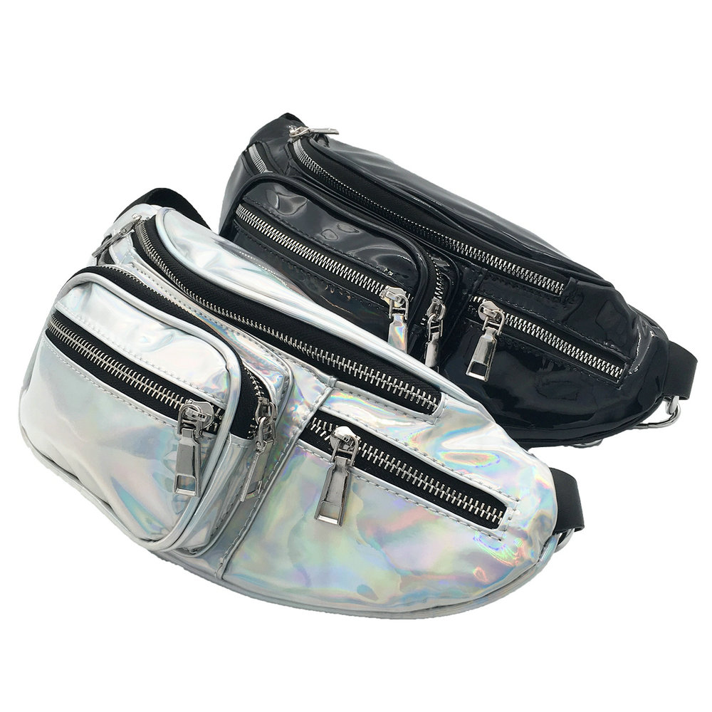 Laser Holographic PU Fanny Pack