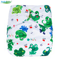 [Ananbaby]1pcs Local Baby Infant Pocket Cloth Diaper,Nappy Reusable Washable,Holiday Frog Print Cover,8lbs-36lbs 3kg-15kg
