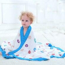 Бамбуковые волокна хлопка детские муслина пеленать для младенцев детское постельное белье лист для ванны дети Полотенца 2 слоя детское одеяло для новорожденных