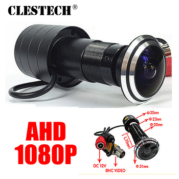 Door Eye Hole AHD CCTV Mini Camera 1080P Peephole Fisheye SONY-IMX323 Sensor Star Light 0.001Lux Super wide Angle Surveillance цена 2017