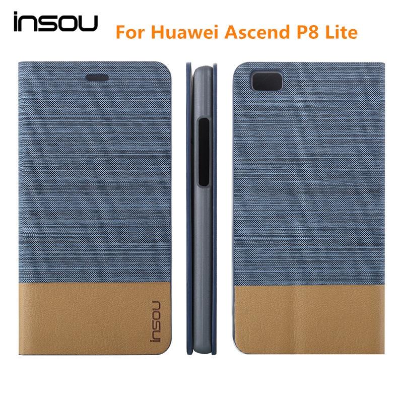 Funda original Huawei P8 lite, Funda de cuero con tapa Demin Wallet - Accesorios y repuestos para celulares