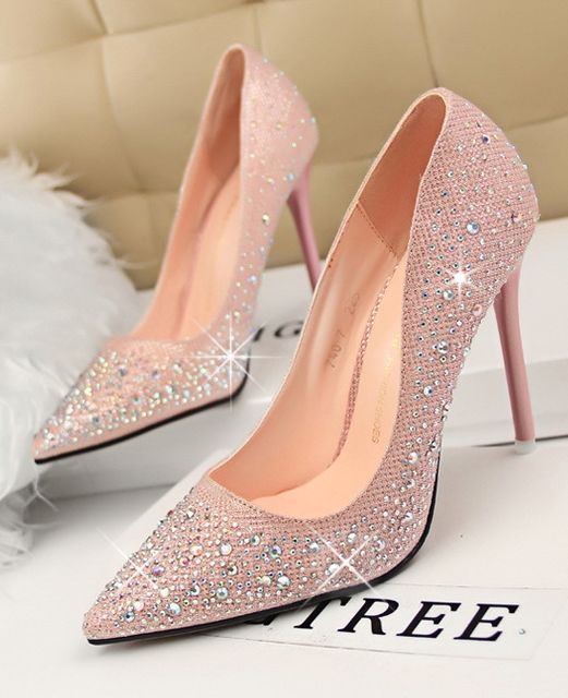White Crystal Bridal Shoes