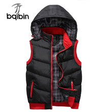 Plus Size 5XL Mens New Winter Vest Thermal Sleeveless Jackets Men Casual Slim Fit Autumn Vests Men Brand Waistcoat
