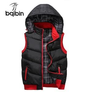Image 1 - Plus Size 5XL Mens New Winter Vest Thermal Sleeveless Jackets Men Casual Slim Fit Autumn Vests Men Brand Waistcoat