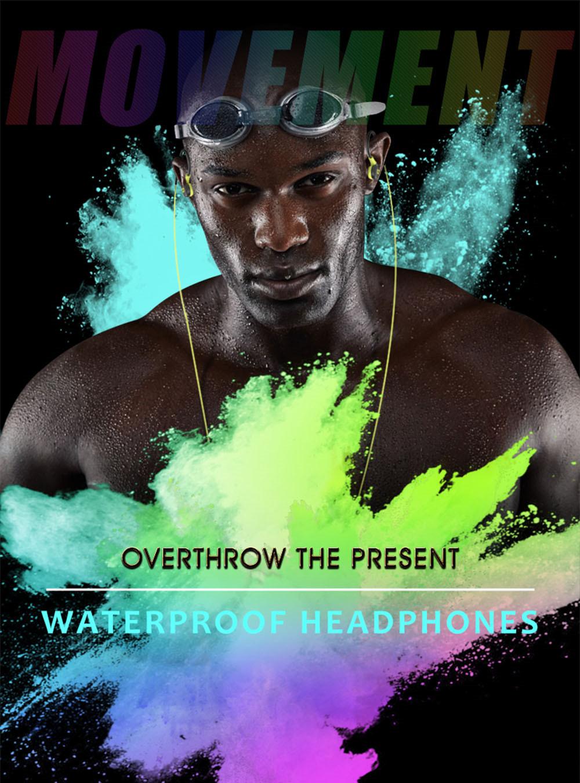 Super Bass Sweat Proof Sports Earphones Black+Green 1