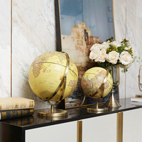American retro globe study office desk display large decoration home living room crafts decorations resin cabochon