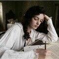 Принцесса пижамы хлопок сатин 100% гостиная рябить старинные долго дизайн молодая девушка ночная рубашка королевский ветер парадной зачистке