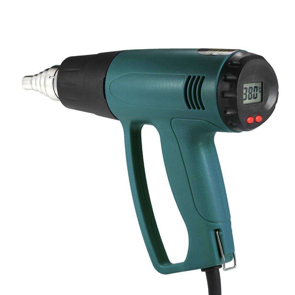 2000 w Pistolet à air chaud Pistolet À Air Chaud Pistola De Calor LCD Numérique Électrique à Température contrôlée chaude pistolet à souder 4 pcs Buses pistolet air