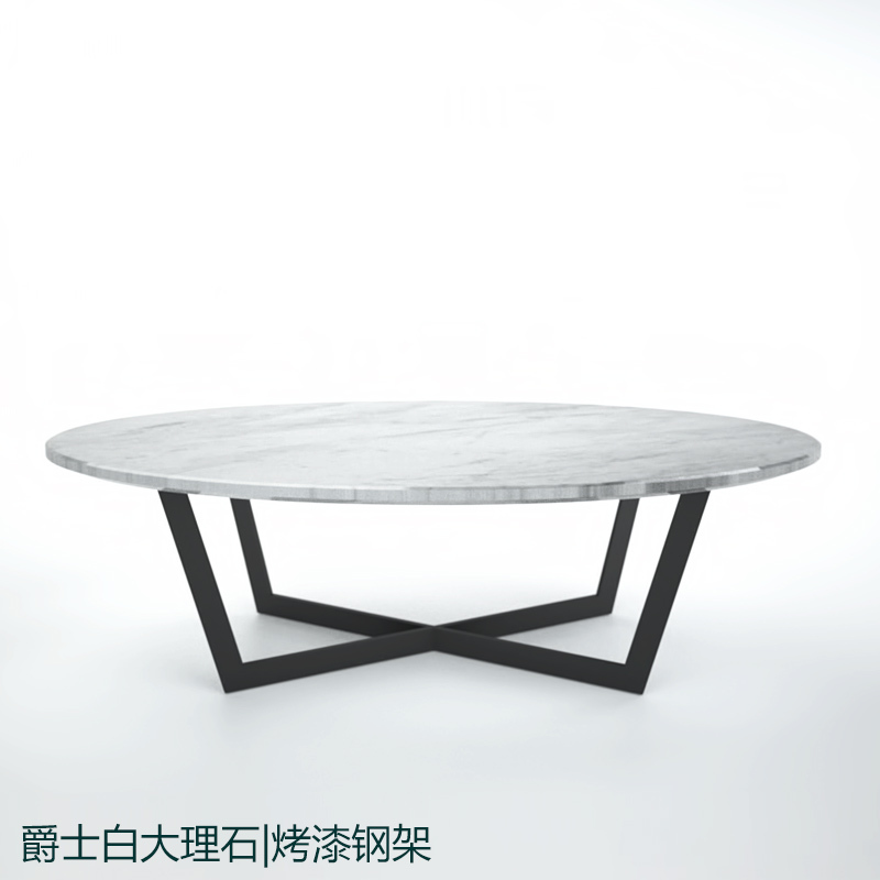 Stone Coffee Tables With Modern Style: Sir Custom Stainless Steel Paint White Natural Marble Oval