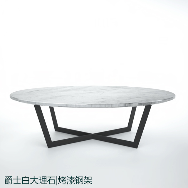 Sir Custom Stainless Steel Paint White Natural Marble Oval Coffee Table Scandinavian Modern Style Furniture Designer