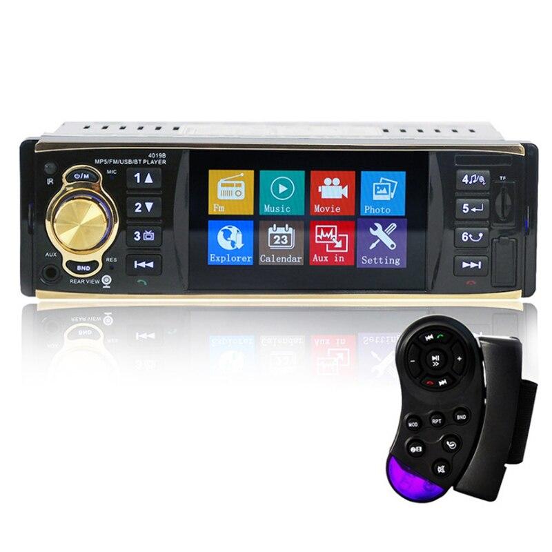 Autoradio Auto 4 pouces HD voiture stéréo Bluetooth MP5 véhicule MP5 Machine enfichable U lecteur de disque haut-parleur Radio Coche affichage