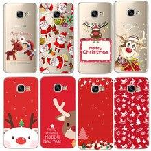 Рождественский чехол для samsung J5 J530, мягкий силиконовый чехол для телефона, для samsung Galaxy A3 A5 A8 Plus S8 S9 Plus, Fundas Coque