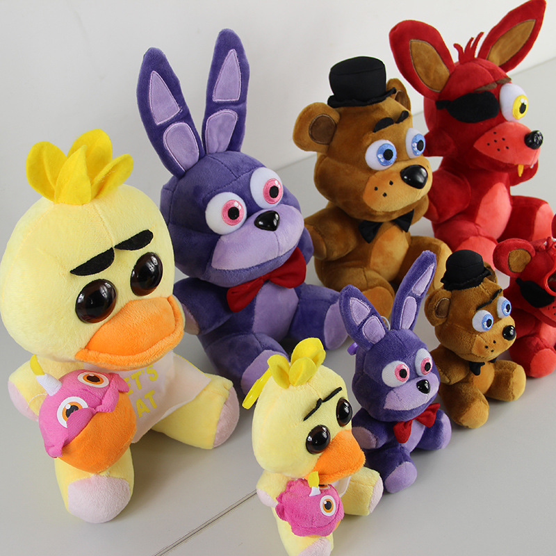 Five Nights At Freddy's 4 Kawaii Fnaf World Freddy Fazbear Bear Foxy Bonnie Chica Plush Stuffed Animal Kids Toys Peluche Doll wholesale five nights at freddy s 4 fnaf freddy fazbear bear foxy plush toys doll kids birthday gift