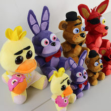 Five Nights At Freddy's 4 Kawaii Fnaf World Freddy Fazbear oso atrevido Bonnie Chica Animal de Peluche relleno, juguetes para niños, muñeco de Peluche