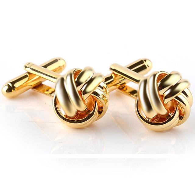 Ball Knot Cufflinks Black Gold Silver Color Cuff Button Wedding Mens Links Shirt Cufflink