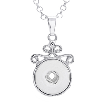 10 pcs / lot Wholesale Selling Snap Jewelry Mens Crystal 18mm Snap Pendant Woman Czech Necklaces & Pendants