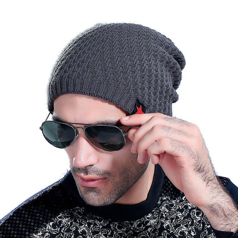 Winter Unisex Men Women Casual Hat Slouch Skull Cap Knit Teen Boy Warm Hats  6 Colors bd1ed0489f8