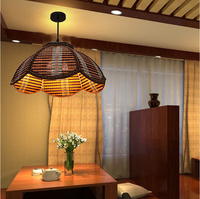 Restauracja proste oszczędny dom żyrandol Southeast Asian zen lampy ogrodowe lampy bambus herbaty ryby sklep zb21 ZH