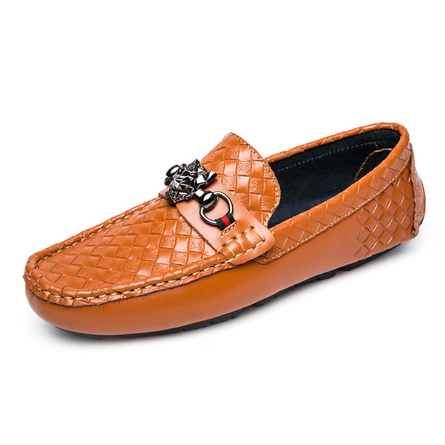 Nice Moccasins Men Shoes Casual Embossed Leather Shoes Men Loafers Driving  Slip On High Quality