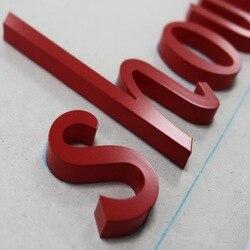 3D duurzaam 316 roestvrij staal fabriceren metalen brief winkel teken