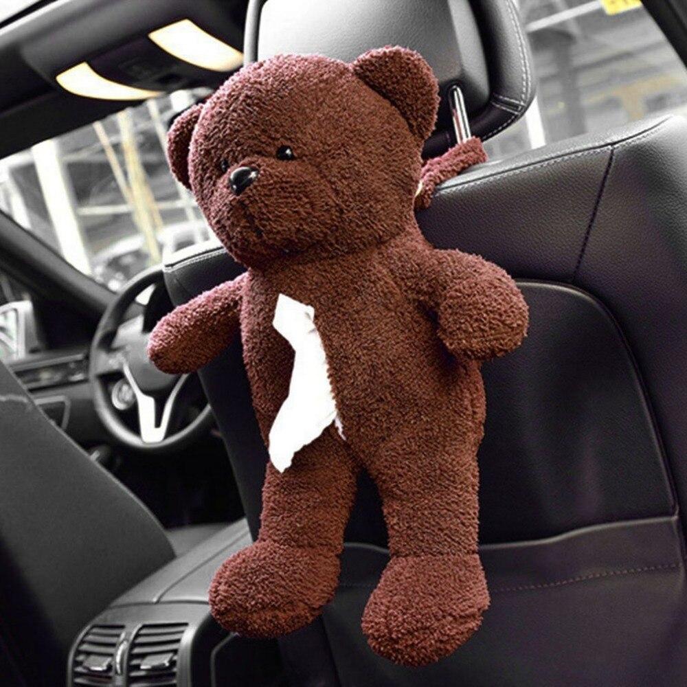 TIROL заднем сиденье автомобиля висит ткань мешок плюшевые куклы Мишка Форма висит сумка для легко экстракт Бумага Полотенца автомобиля -укла...